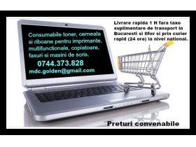 Oferta, Bucuresti, LIVRARE IMEDIATA! Consumabile ptr. imprimante, multifunctionale, copiatoare, faxuri si masini de sc