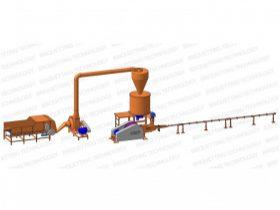 Oferta, National, Linie brichetare 150-200 kg/ora brichete diametrul 60 mm din resturi vegetale